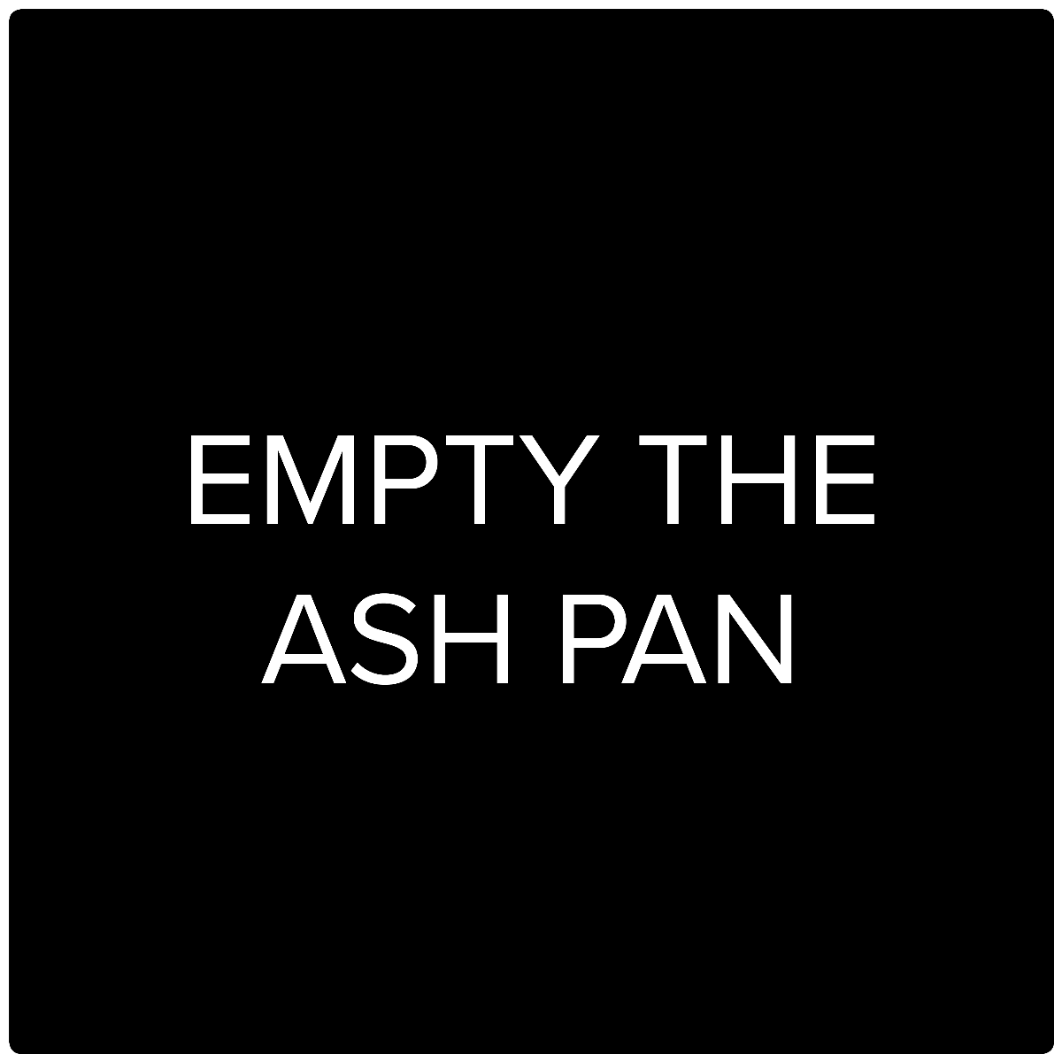HWAM Video: Empty the ash pan